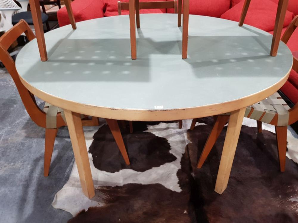 Alvar Aalto Vintage Bentwood Round Dining Table