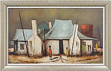 Eris Fleming (1943 - ) - Washing Day at Jack Cutmore's 52.5 x 85