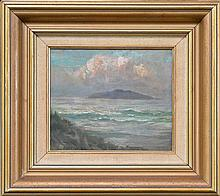Julian Rossi Ashton (1851 - 1942) - Untitled, 1976 (Seascape) 15.5 x 18cm