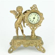Ansonia Gilt Cherub Clock