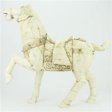 Bone Carved Tang Style Horse Figure