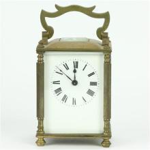 Brass Rectangular Case Carriage Clock