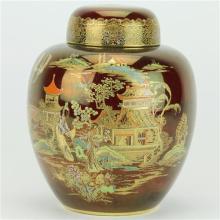 Carlton Ware Rouge Royale 'New Mikado' Lidded Ginger Jar