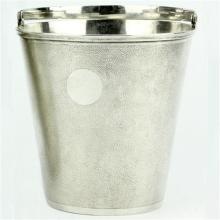 Chinese Silver Ice Bucket & Ice Tongs by Hung Chong