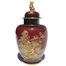 Crown Devon 'Mikado' Lidded Ginger Jar