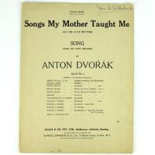 Dame Joan Sutherland Autographed Sheet Music by Anton Dvorak