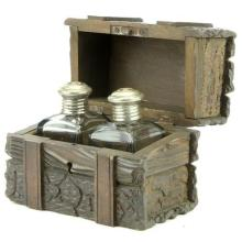 Early Black Forest Timber Perfume Trunk