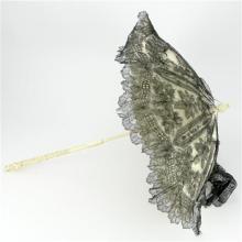 Edwardian Ivory Carved Lady's Folding Parasol