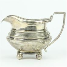 English Hallmarked Sterling Silver George III Milk Jug