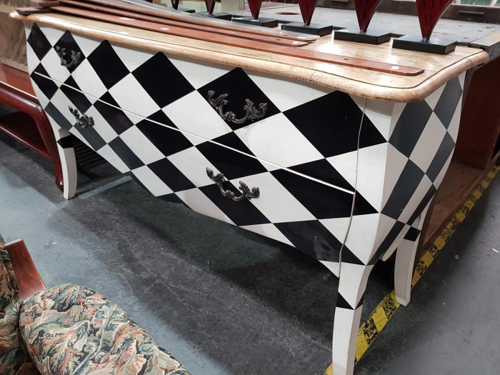 Black and White Chequered Buffet