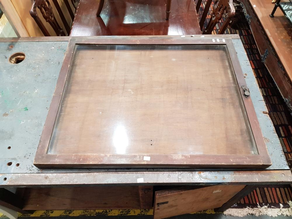 Vintage Timber Framed Notice Board with Glass Front