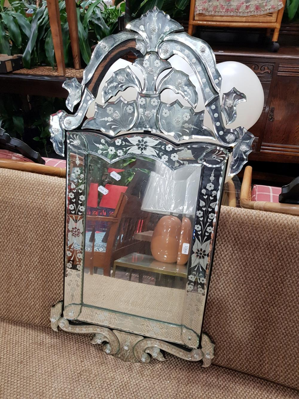Venetian Style Mirror, missing one section