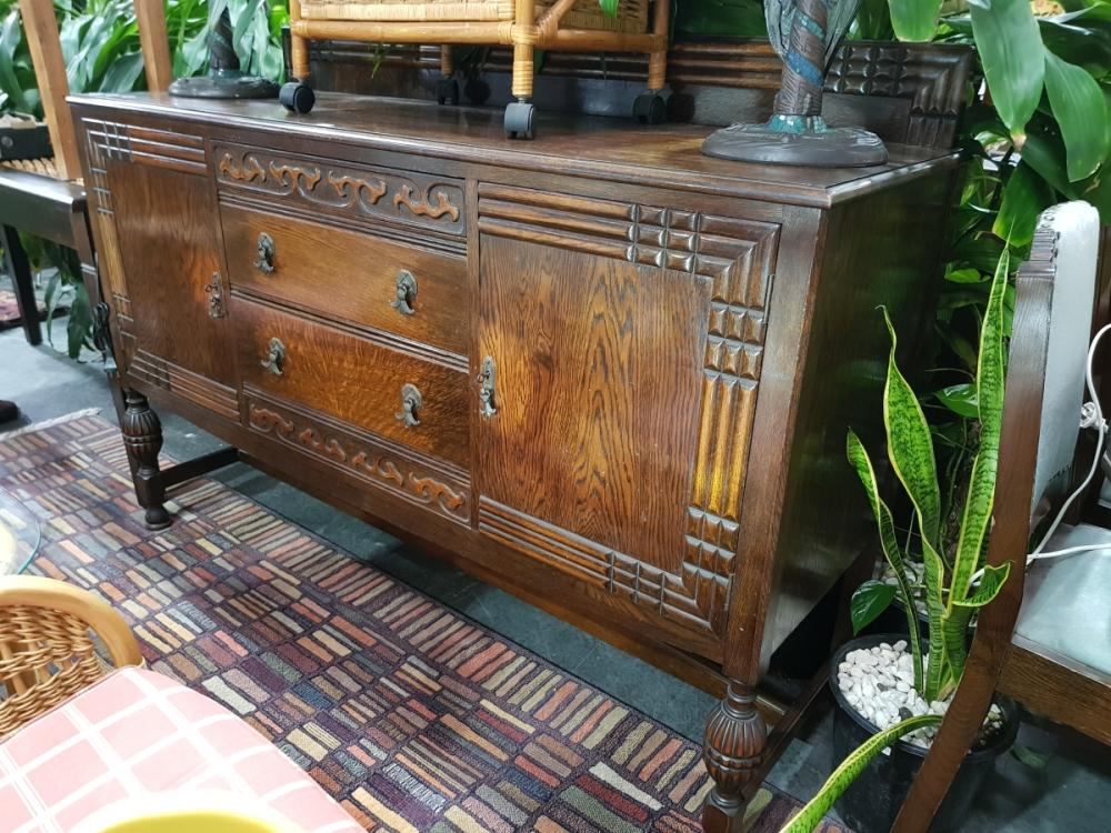 Art Deco Sideboard with Two Doors & Drawers