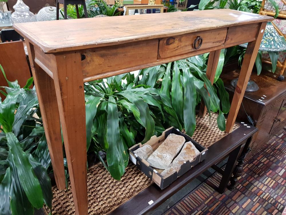 Rustic Timber Hall Table With Single Drawer