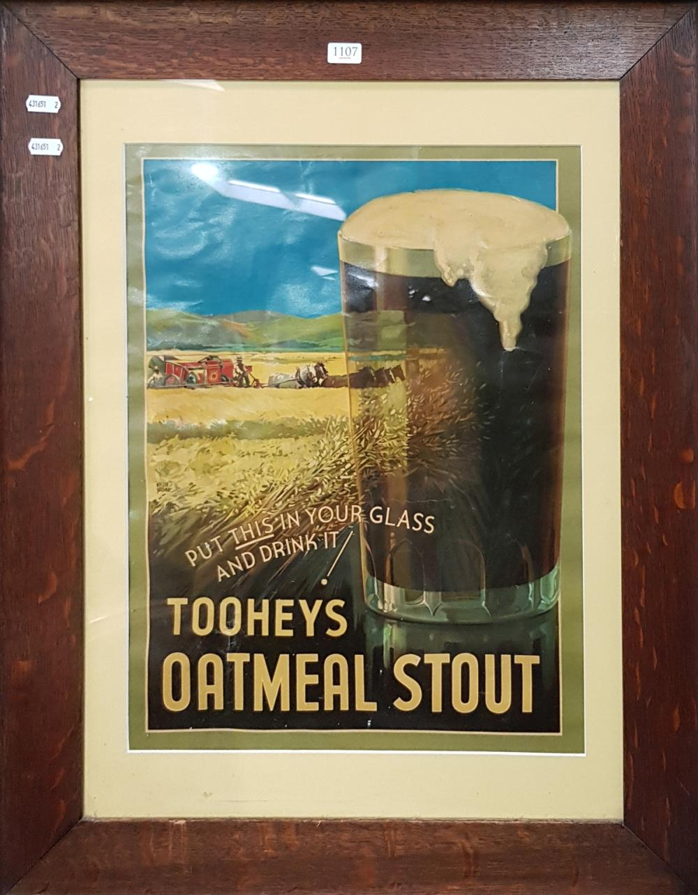 Timber Framed Toohey's Oatmeal Stout Print