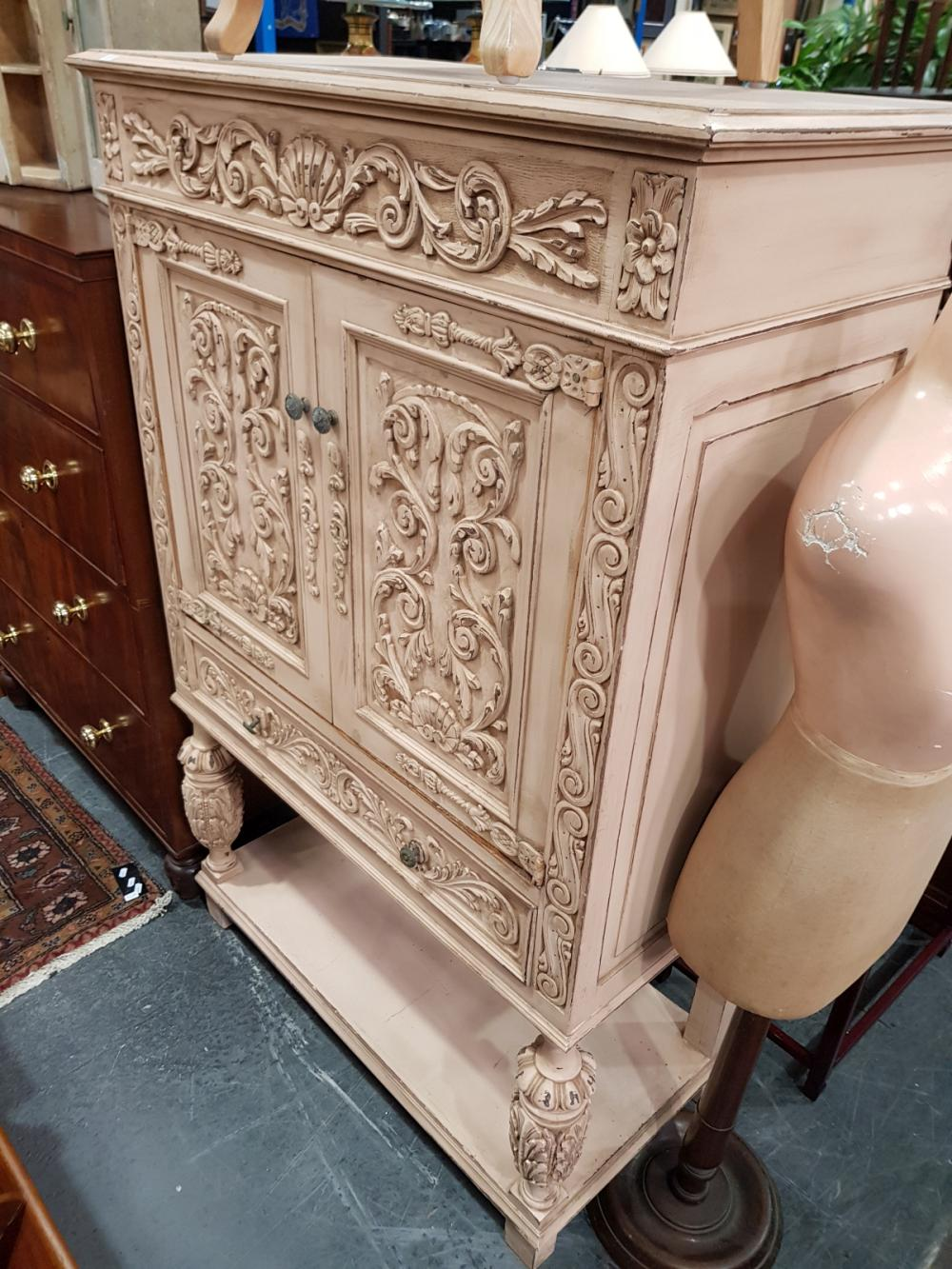 French Style Painted Lowboy