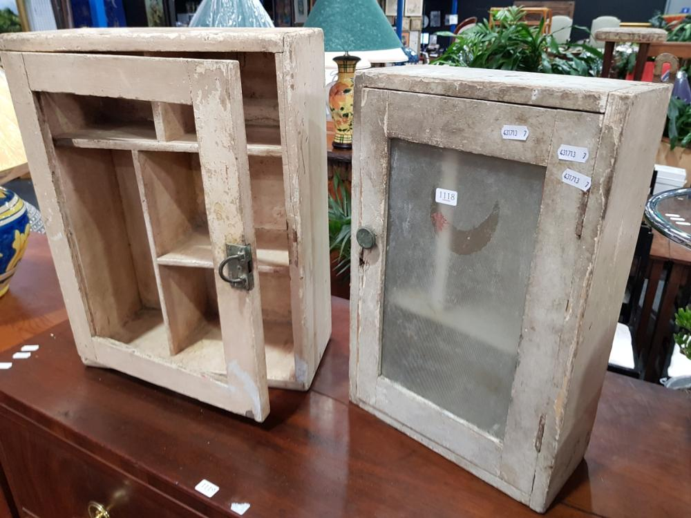 Two Rustic Wall Mount Medicine Cabinets