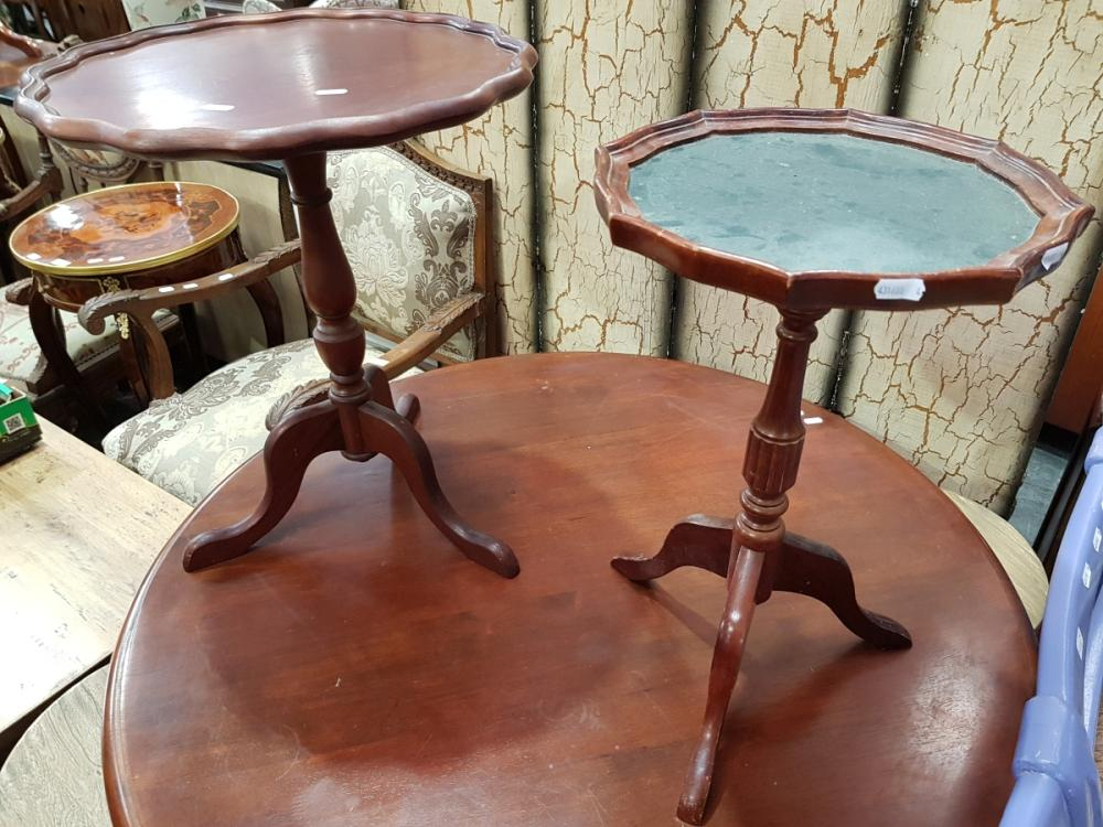 Two Wine Tables on Tripod Base