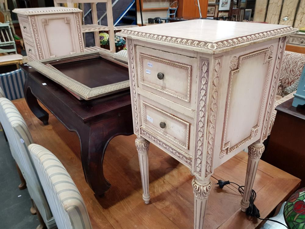 Pair of French Style Bedside Cabinets