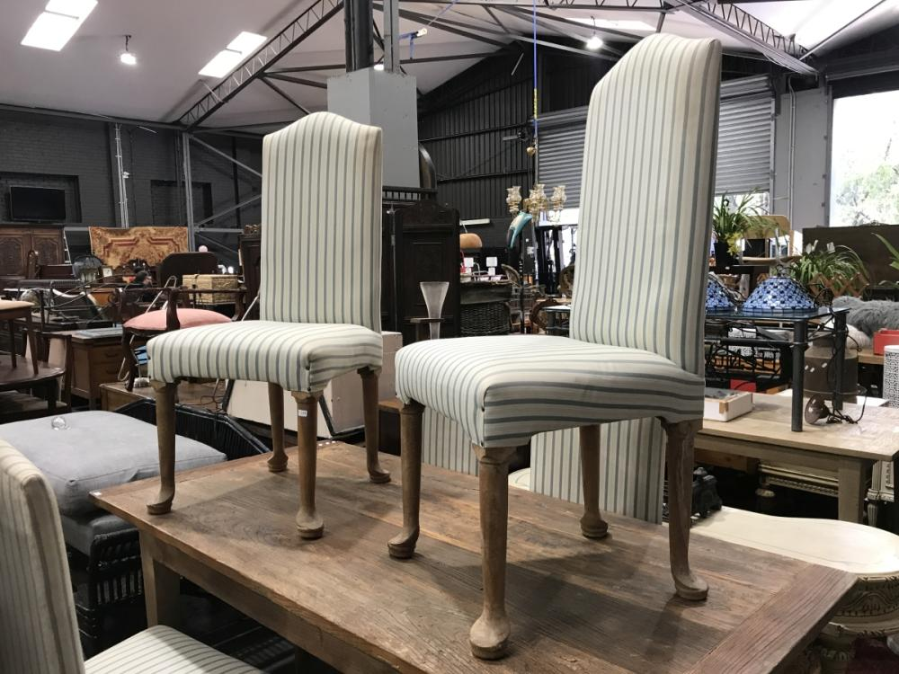 Set of Six Fabric Upholstered Dining Chairs