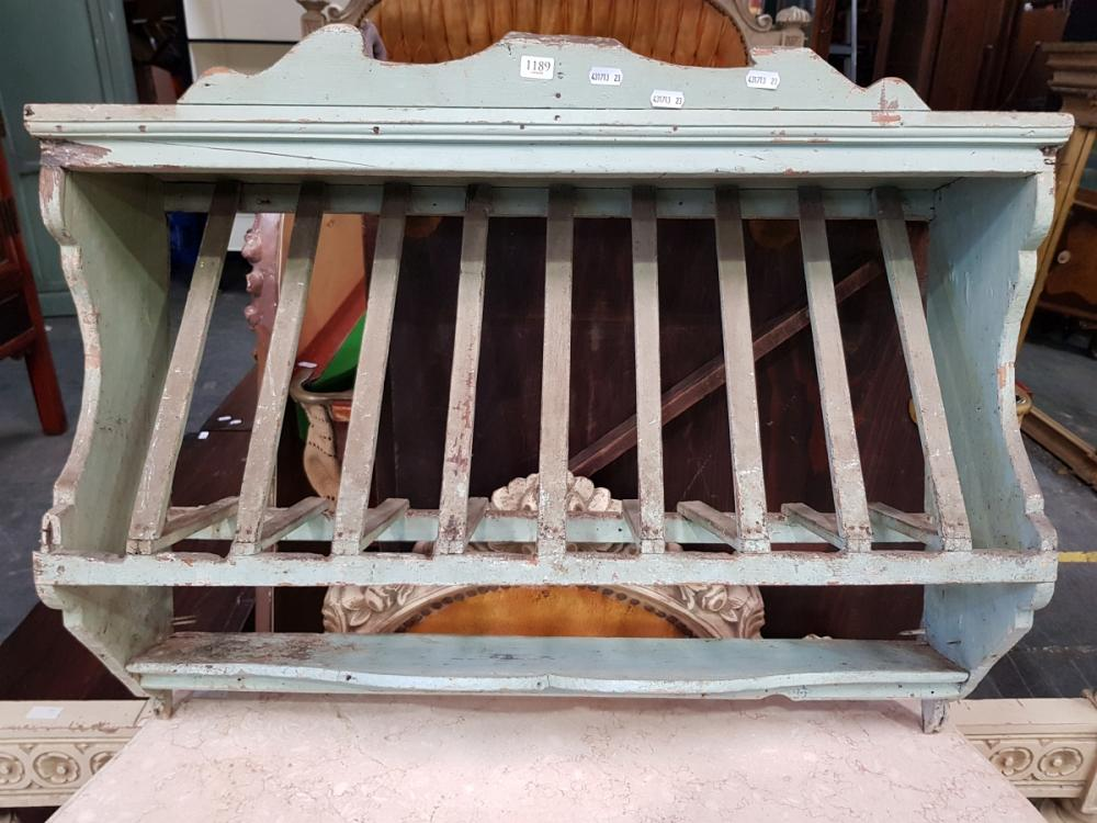 Rustic Timber Wall Mount Plate Rack