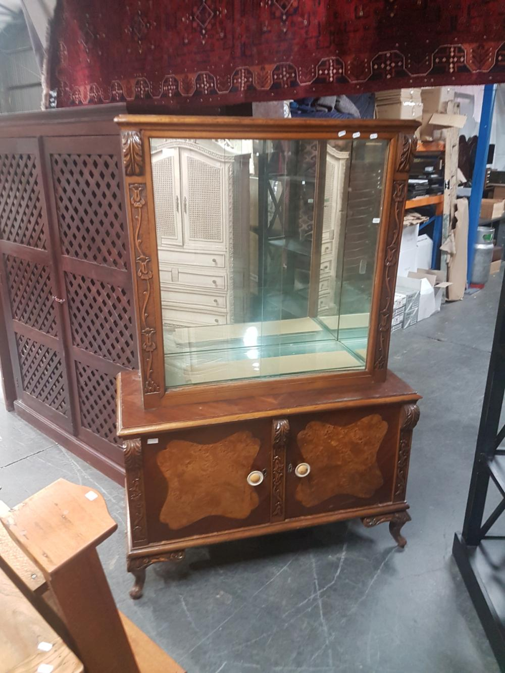 Art Deco Style Glass Front Cabinet