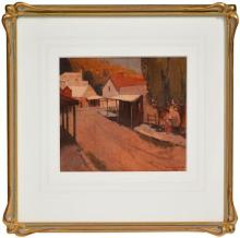 Clifford Orme (XX) - Country Town Street, 1926 21 x 23.5cm