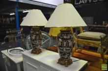 Pair of Chinese table Lamps (4227)