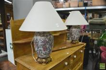 Pair of Satsuma Style Table Lamps (4102)