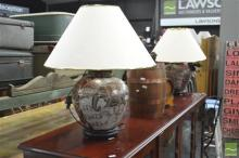 Pair of Satsuma Style Table Lamps (4144)