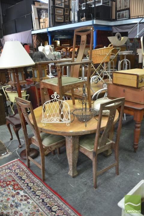 lot 1262 four piece dining suite incl round table and four chairs