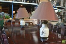 Satsuma Style Pair Of Table Lamps