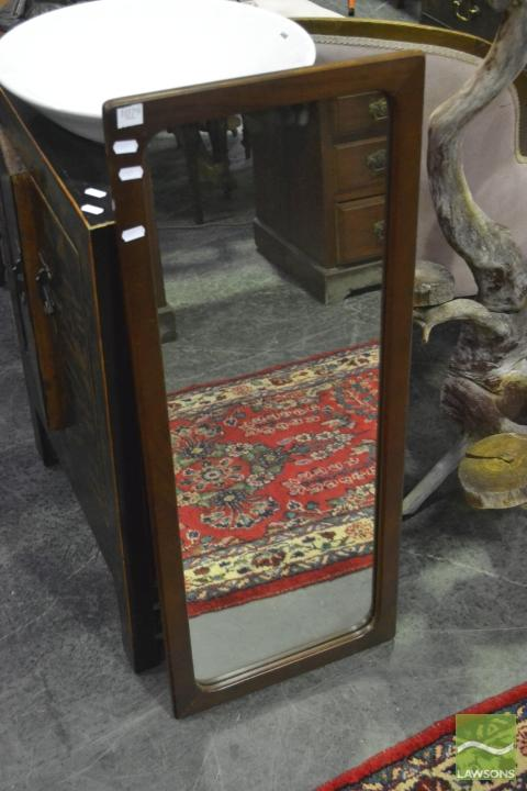 Timber framed mirror