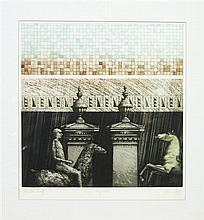 Michael Kempson - 'Marini Compostion' 50 x 50cm unframed