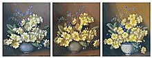 Albert Sherman (1882 - 1971) - Primroses (3) oil on board