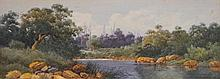 Gladstone Eyre (1863 - 1933) - Untitled (River Scene) watercolour