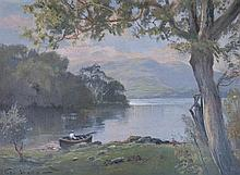 George Hyde Pownall (1876 - 1932) - Lower Lake Killarney 1914 oil on board