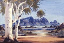 Claude Pannka (1928 - 1972) - MacDonnell Ranges 34.5 x 51cm