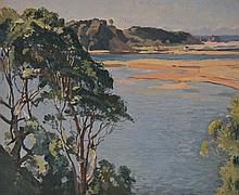 Will Ashton (1881 - 1963) - Morning, Nambucca Heads 1936 oil on canvas on board
