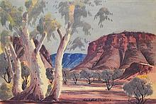 Claude Pannka (1928 - 1972) - Central Australian Landscape 33.5 x 49.5cm