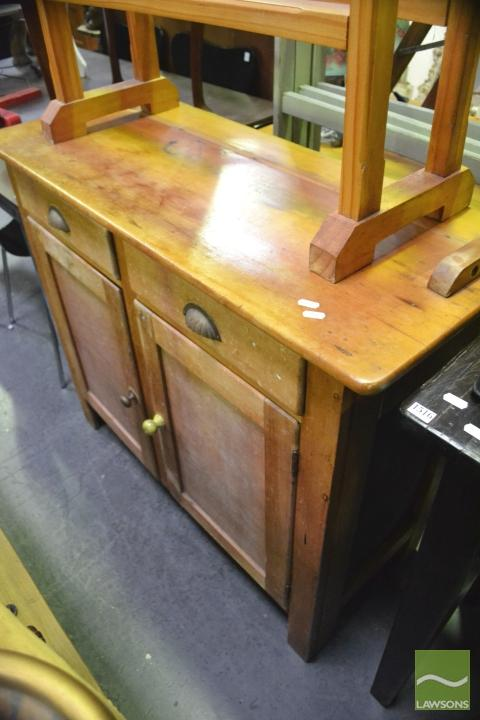 Pine kitchen two door two drawer cabinet for Auctions for kitchen cabinets
