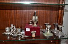 Small Collection of EP Wares Including Figural Salts -