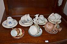 1.5 Shelf Lots of Cup and Saucer Plates -