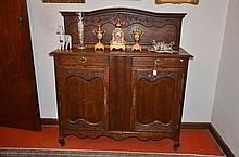 Antique French Carved oak Provincial Style Sideboard -
