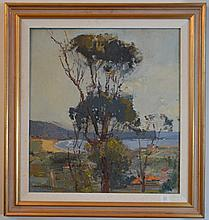 Sydney Long (1871 - 1955) - Narrabeen Beach, C.1940s 50 x 45 cm