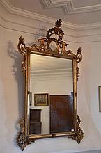 Impressive French Period Gilt Mirror - H: 145 cm W: 87 cm
