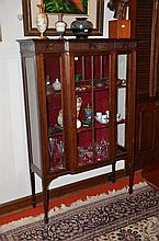 A Victorian Breakfront Display Cabinet - H: 157 cm W: 106 cm D: 36 cm