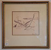 Russell Drysdale (1912 - 1981) - Landscape Study (Cat no. 74) 17.5 x 20.5 cm