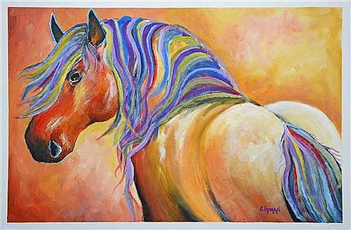 Greg Lipman (1938 - ) - Brown Beauty 61 x 91.5cm