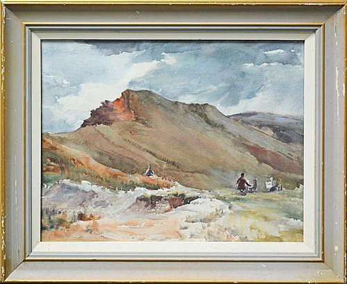 May Neill (1910 - ?) - Untitled (Artist Camp) 34 x 44cm